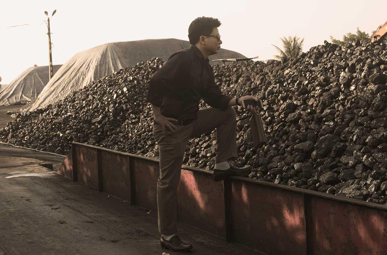 Cảng than cục xô đốt lò hơi Hùng Mạnh
